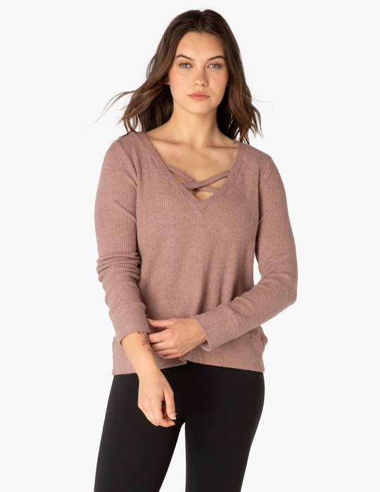 BEYOND YOGA In Line Reversile Pullover