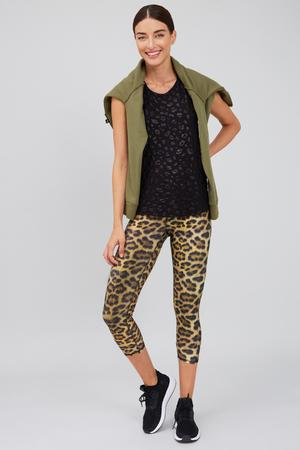 TEREZ Leopard Goals Super-High Band Capris