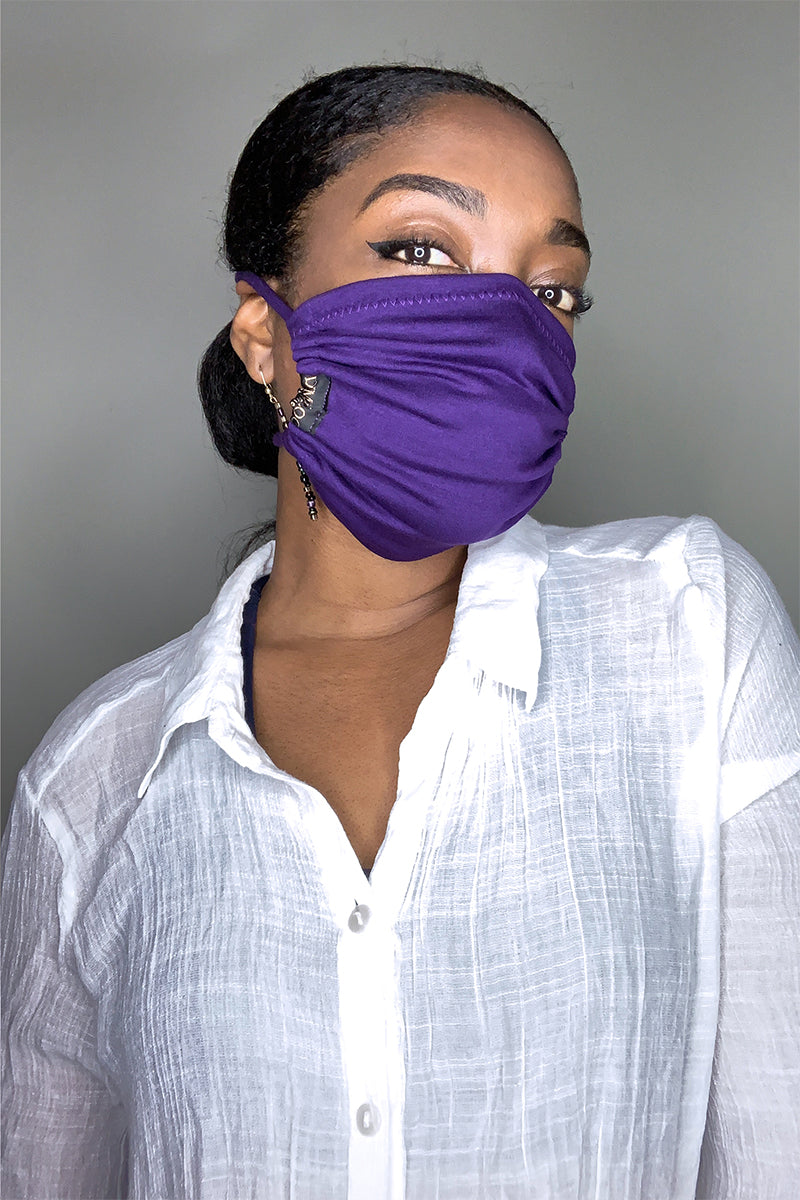 TIGER PRINT/ PURPLE FACE MASKS COMBO PK (3) - DIMILOC
