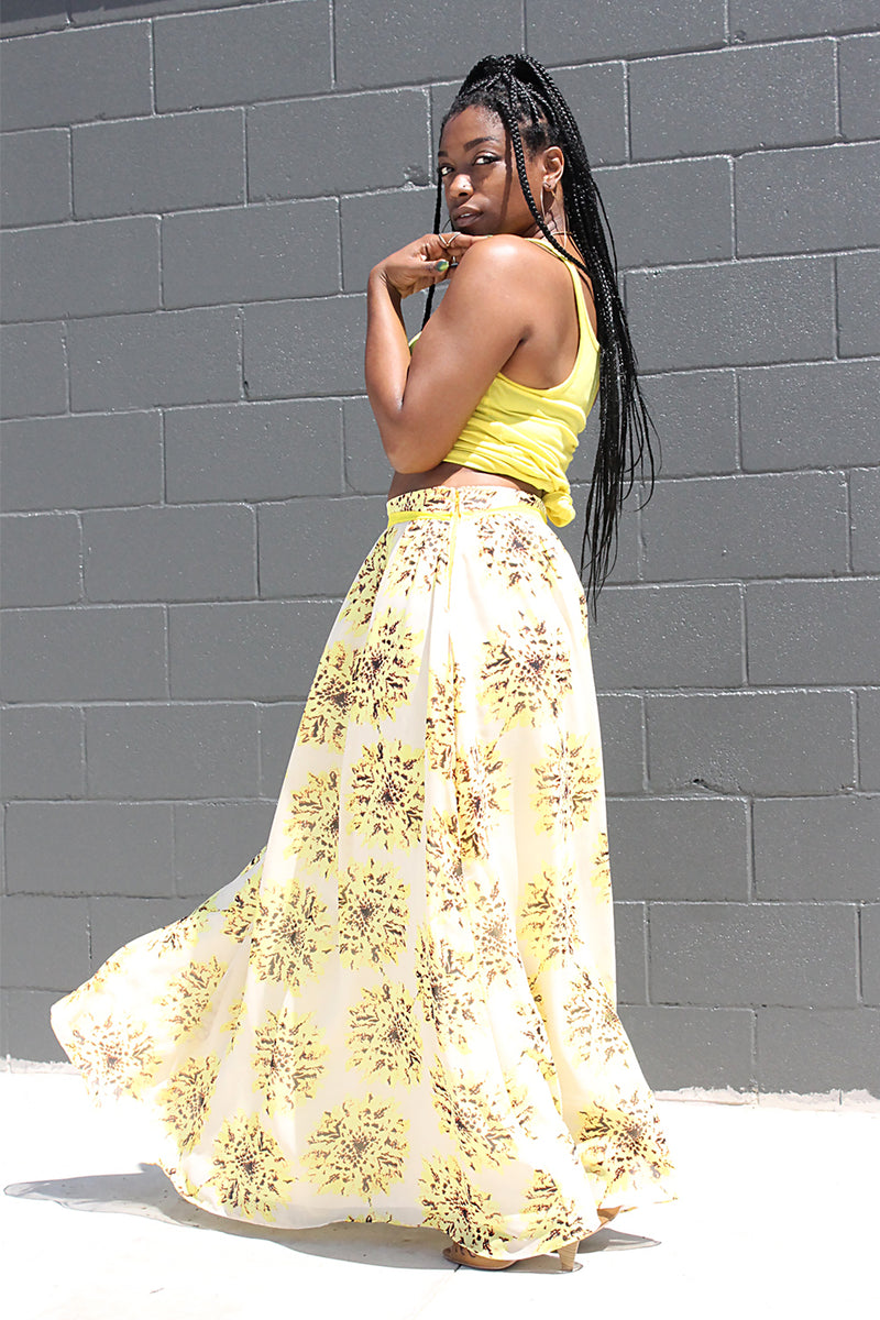 SUNFLORA MAXI SKIRT W/ POCKETS