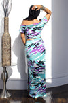 Whit Reversible Turquoise Maxi Dress