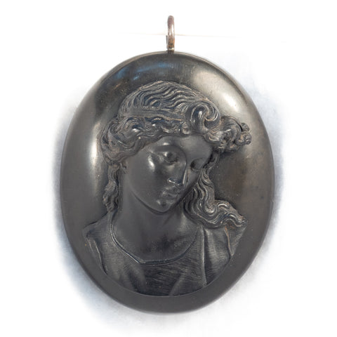 Vulcanite Cameo Locket