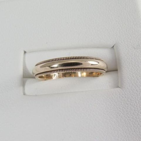 1940s Mille Grain 10kt Gold Ring