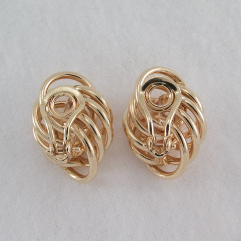 14kt Yellow Gold swirl Earrings