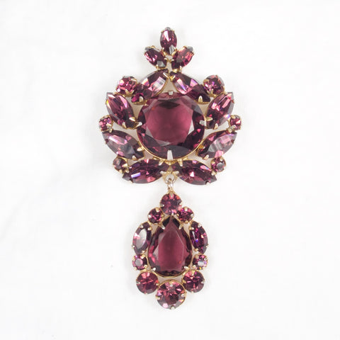 Purple Regency Brooch