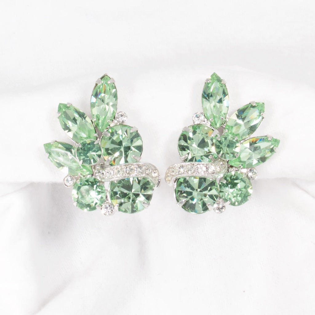 Green Eisenberg Earrings - Rhinestone Rosie