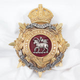 The Queens Royal West Surrey Regiment Helmet Plate - Rhinestone Rosie