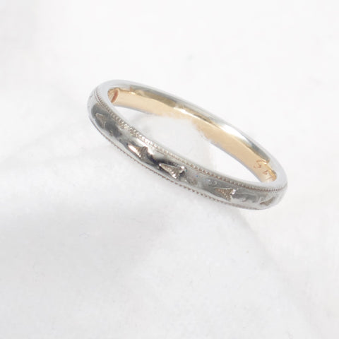 Antique 18kt Gold Two Tone Ring