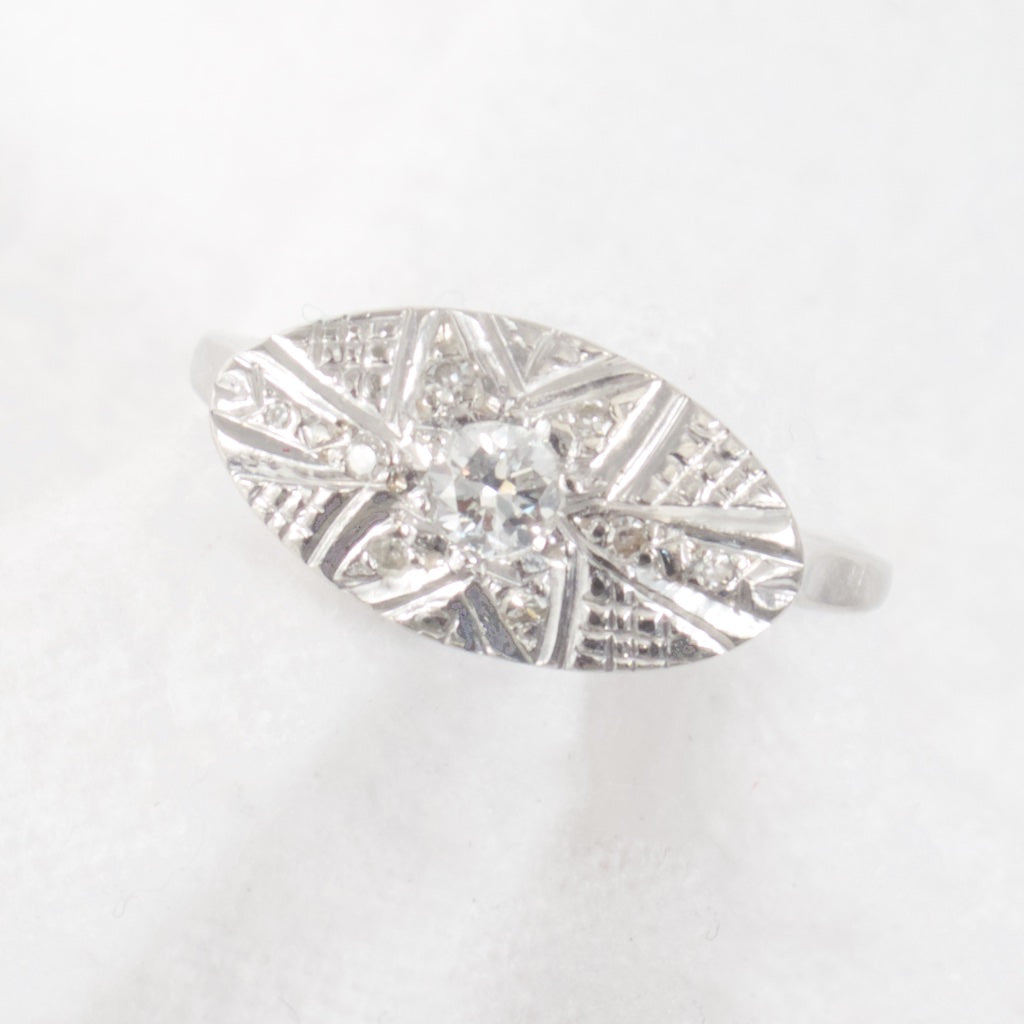 Engraved Diamond Ring - Rhinestone Rosie