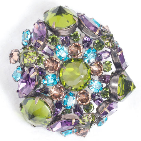 Schreiner of New York Olivine Brooch