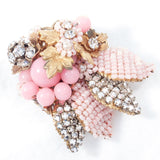 Jonne by House of Schrager Brooch and Earring Set - Rhinestone Rosie