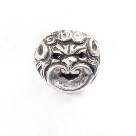 Silver Grotesque Face Stickpin