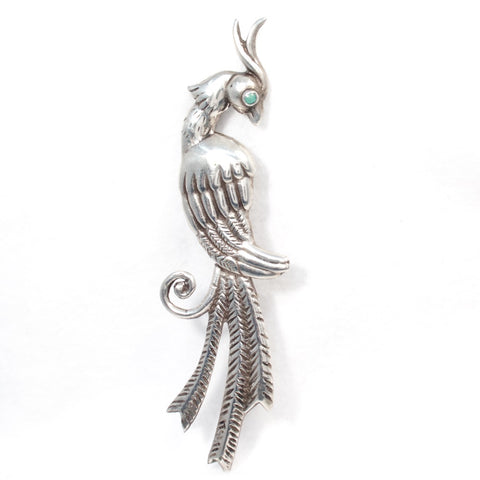 Mexican Silver Bird Brooch