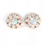 Weiss Aurora Borealis Rhinestone Earrings vintage- Rhinestone Rosie
