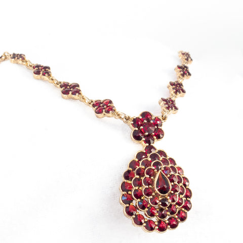 Garnet Necklace by Granat Turnov