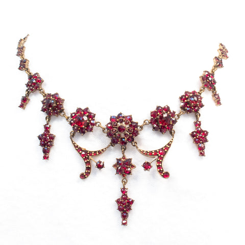 Bohemian Czech Garnet Necklace