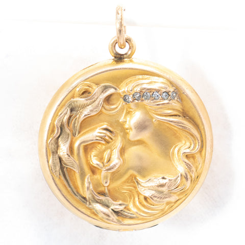 Wightman and Hough Co. Calla Lily Locket
