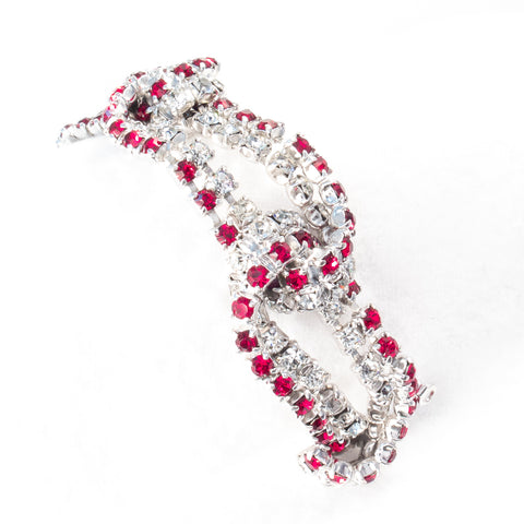 Red and Crystal Rhinestone Bracelet