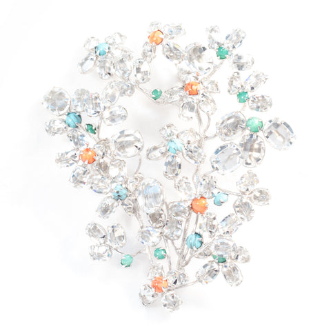 Crystal Bouquet Brooch