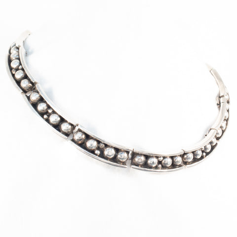 Sterling Silver Taxco Link Necklace TRM