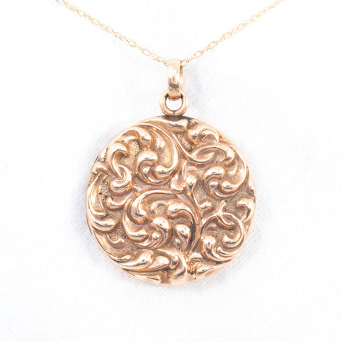 Art Nouveau Swirling Locket