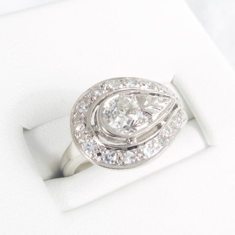 Art Deco Halley's Comet Diamond Ring
