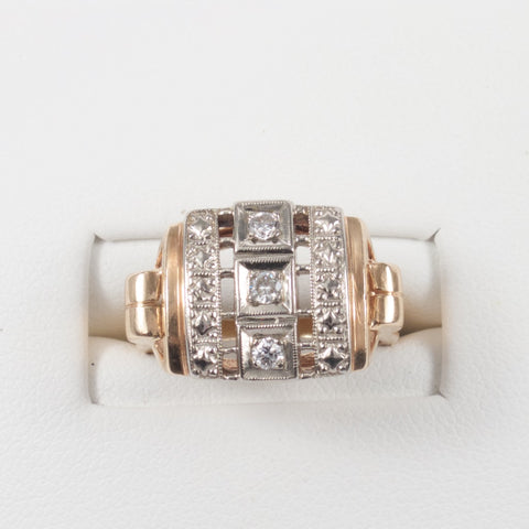 1940s Retro Diamond Ring