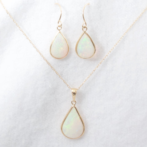 Opal Necklace and Earring Set