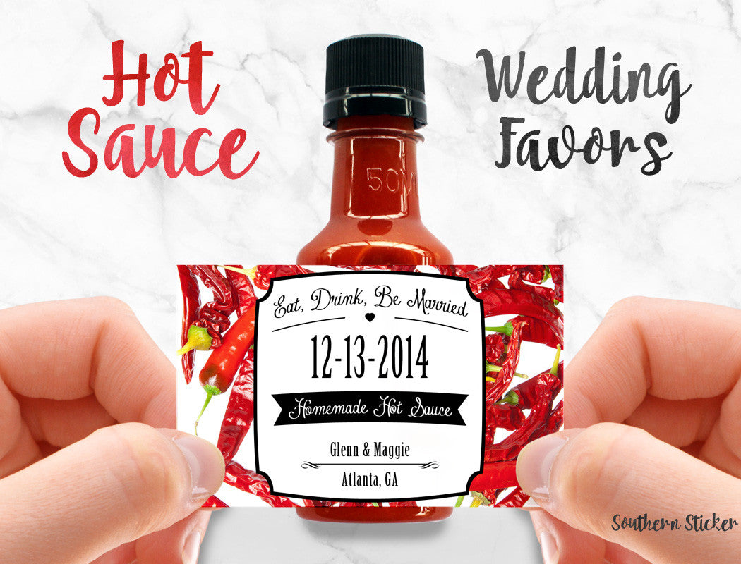 Custom Wedding Hot Sauce Favors Personalized Labels and Empty ...