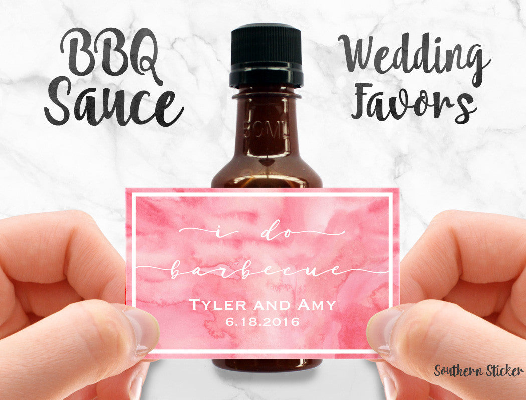 I Do BBQ Custom Barbecue Sauce Favors Personalized Labels Empty ...