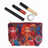 Multifunctional (makeup, travel, essentials, jewerly) handmade pouch by OLIVIA & ELENA Ethical Fashion Brand