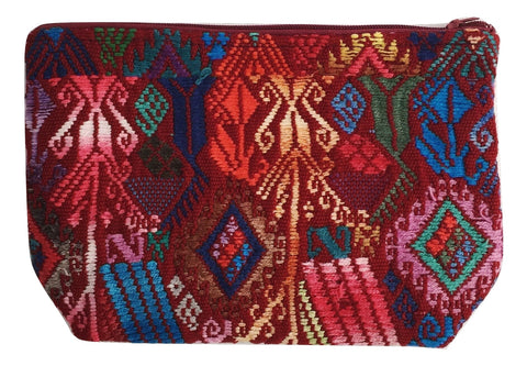 Makeup bag handmade in Guatemala. Ethical and sustainable fashion brand.