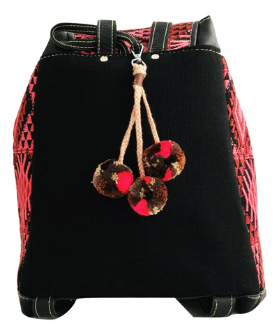 Ethical Fashion Brand. Handmade pom pom bag charm. Pompom keychain. Socially conscious product by OLIVIA & ELENA