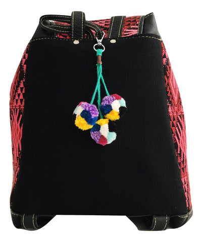 Ethical Fashion Brand. Socially conscious product. Pom pom bag charm. Pompom key chain by OLIVIA & ELENA