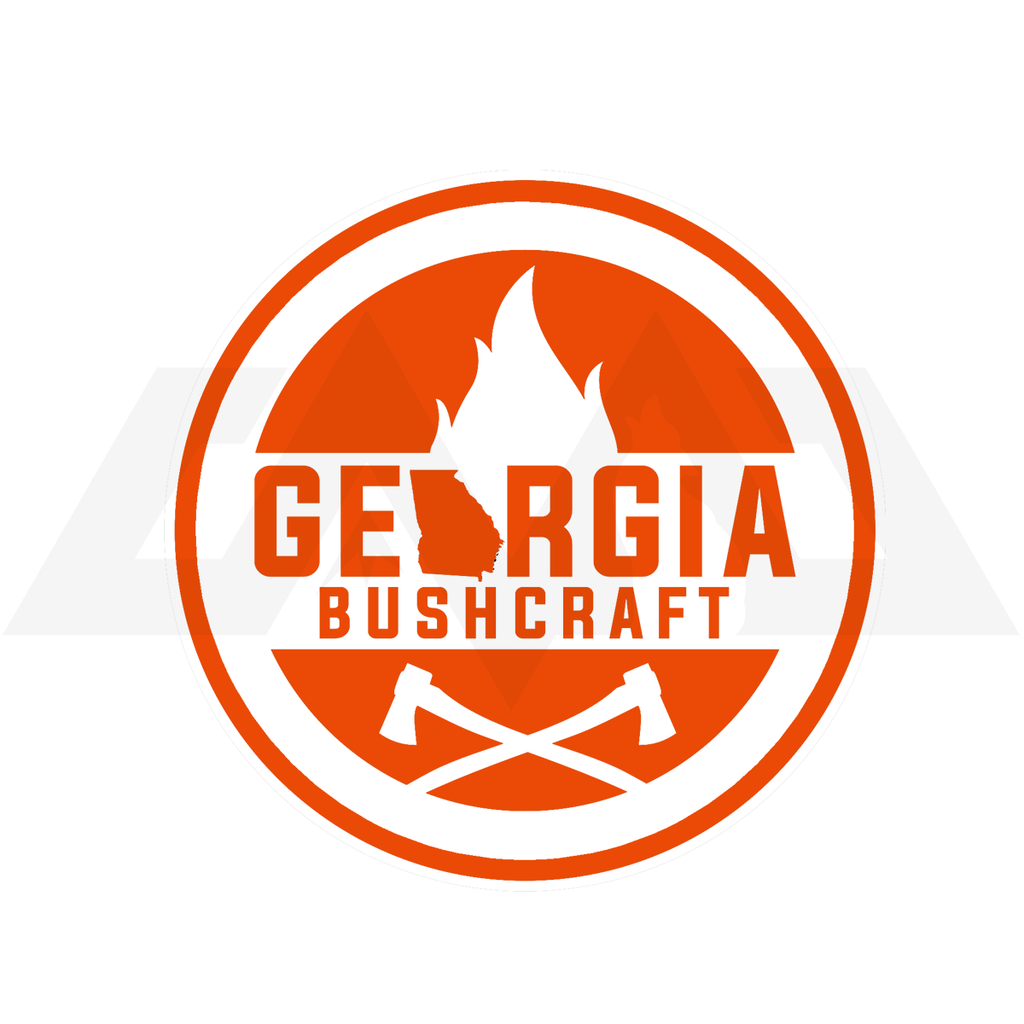 CMO - Georgia Bushcraft Logo Sticker - Orange