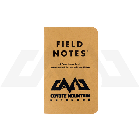 Limited CMO Stamped Field Notes Notebook