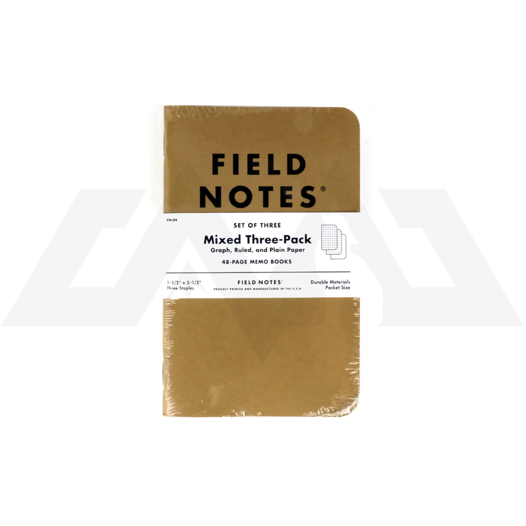 Field Notes - Original Kraft Plain Paper 3-Pack
