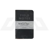 Field Notes - Pitch Black Dot-Graph Paper 3-pack