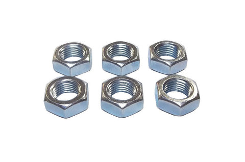 1/2-20 Steel Right Hand Jam Nuts (6 Pack)