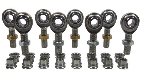 1/2 x 1/2-20 Economy 4 Link Kit With 1/2 To 3/8 High Misalignment Spacers & Jam Nuts