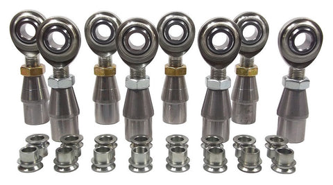 1/2 x 1/2-20 Economy 4 Link Kit With 1/2 To 3/8 High Misalignment Spacers, Weld-In Bungs .065 & Jam Nuts