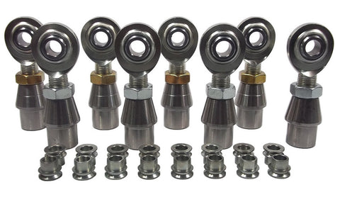 1/2 x 5/8-18 Economy 4 Link Kit With 1/2 To 3/8 High Misalignment Spacers, Weld-In Bungs .095 & Jam Nuts