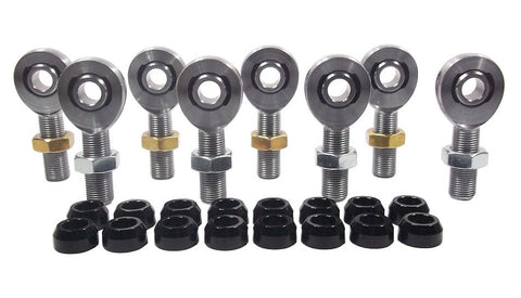 1/2 x 5/8-18 Chromoly 4 Link Kit With 1/2 Aluminum Cone Spacers & Jam Nuts