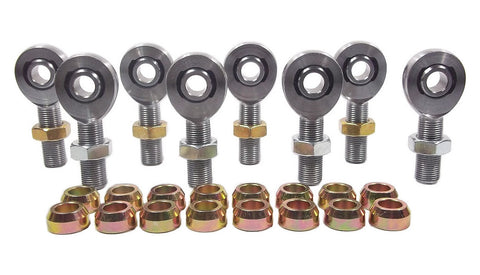 1/2 x 5/8-18 Chromoly 4 Link Kit With 1/2 Steel Cone Spacers & Jam Nuts