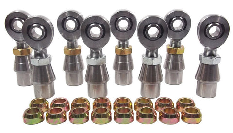 1/2 x 5/8-18 Chromoly 4 Link Kit With 1/2 Steel Cone Spacers, Weld-In Bungs .120 & Jam Nuts