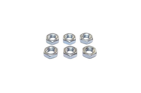 1/4-28 Steel Right Hand Jam Nuts (6 Pack)