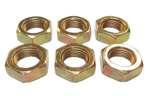 3/4-16 Steel Left Hand Jam Nuts (6 Pack)