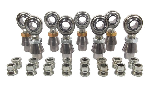 3/4 x 3/4-16 Economy 4 Link Kit With 3/4 To 1/2 High Misalignment Spacers, Weld-In Bungs .250 & Jam Nuts