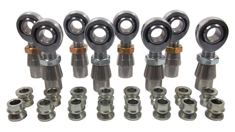 3/4 x 3/4-16 Chromoly 4 Link Kit With 3/4 To 1/2 High Misalignment Spacers, Weld-In Bungs .095 & Jam Nuts
