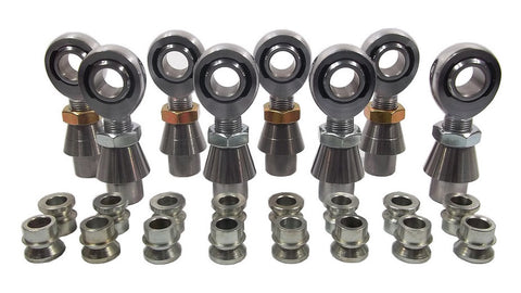 3/4 x 3/4-16 Chromoly 4 Link Kit With 3/4 To 1/2 High Misalignment Spacers, Weld-In Bungs .250 & Jam Nuts